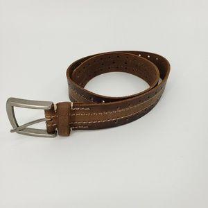 New Fossil Genuine Leather Belt Tim Belt Brown